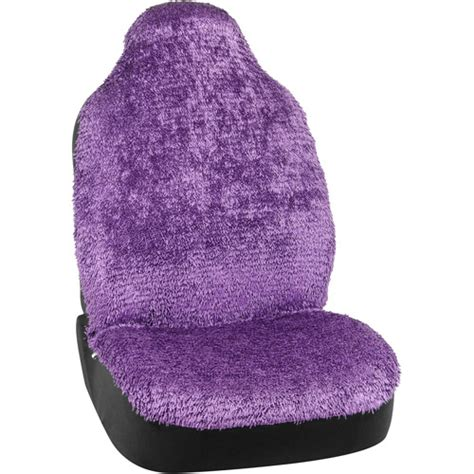 bell shiny shaggy seat cover purple 1 pack walmart
