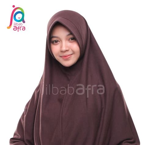 Jilbab Anti Afra Amira Size Xl amira 08 coklat tua ziahaura