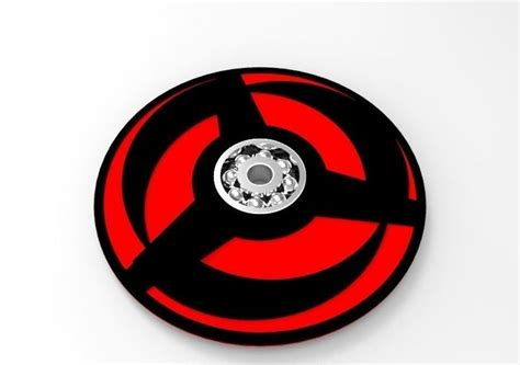 Fidget Spinner Sharingan obito mangekyou sharingan fidget spinner 3d model 3dm