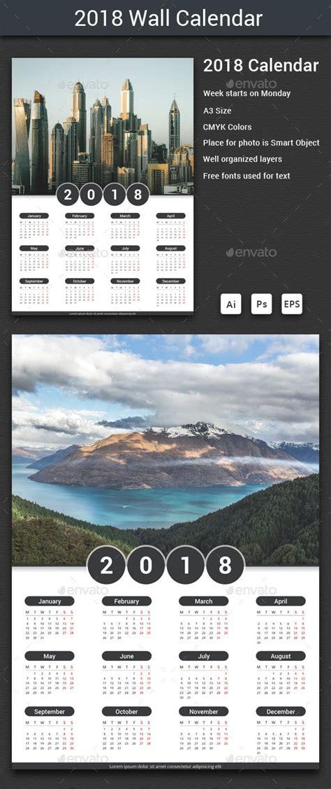 2018 Calendar Template Illustrator 25 Best Ideas About Calendar Templates On
