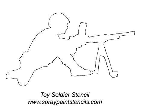 printable gun stencils army soldier w gun stencil outline version pictures
