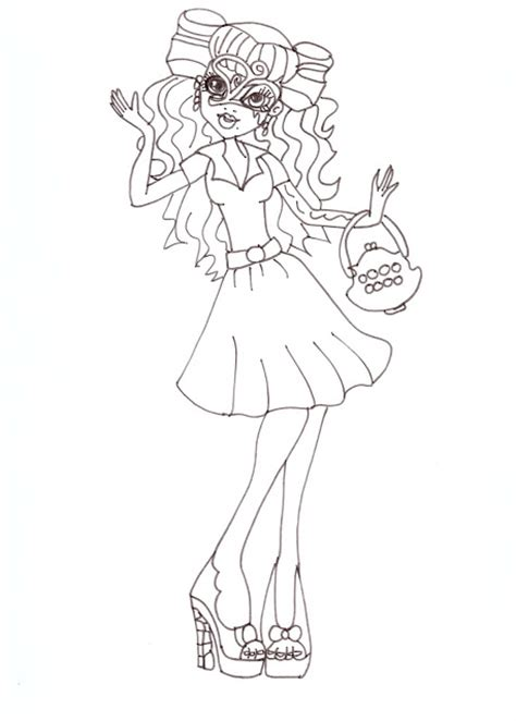 monster high operetta coloring pages free printable monster high coloring pages operetta