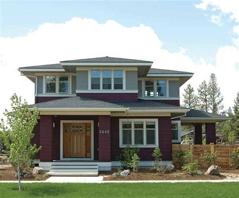prairie style homes prairie style house plans craftsman home plans
