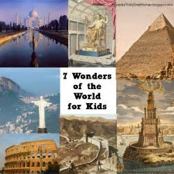 Wonders of the world for kids the seven wonders of the world for kids