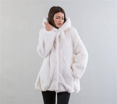 white mink fur coat with haute acorn