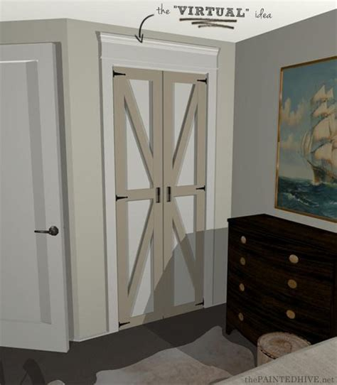 Folding Barn Doors 17 Best Ideas About Closet Door Redo On Closet Redo Folding Closet Doors And Door