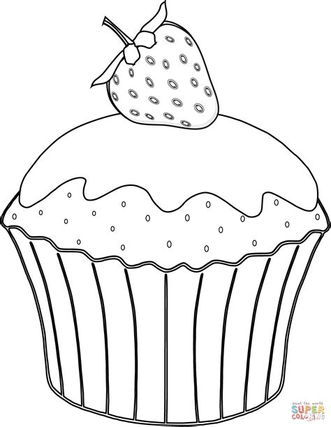 Muffins Coloring Page Coloring Home Muffin Coloring Page