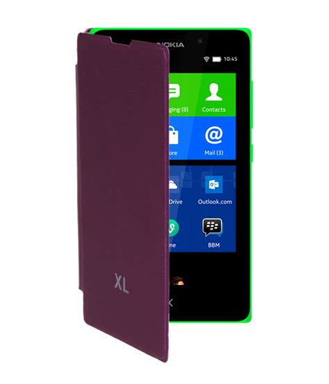 Flip Cover Hp Nokia Xl koloredge flip cover for nokia xl purple available at shopclues for rs 155