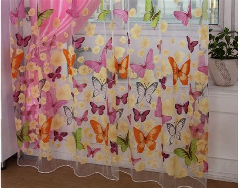butterfly curtains for kids burnout butterfly curtains window screening tulle sheers