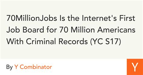 1 In 3 Americans A Criminal Record 70millionjobs Is The S Board For 70 Million Americans With