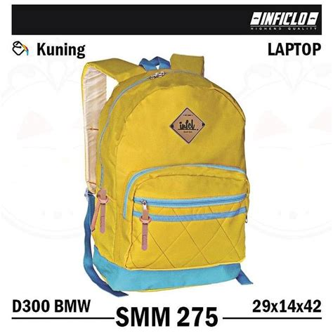 Harga Tas Ransel Dc tas ransel gendong backpack laptop inficlo smm 275 warna kuning bahan d300 bmw ukuran