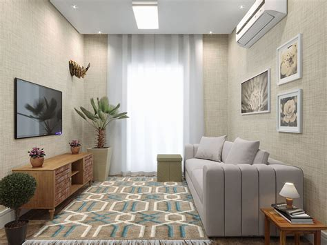 appartamento a cortina sala de apartamento pequeno tapete e cortina leroy