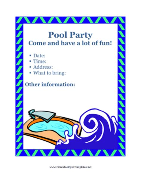 free pool flyer templates flyer for pool