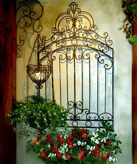 backyard wall art tuscan garden gate wall grille panel metal art grill