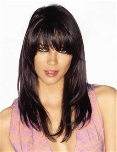 show side fring on long hair for older woman long hairstyles with bangs and layers 2015 long layered