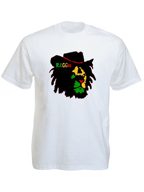 T Shirt Chapeau Black reggae colors of judah white shirt black