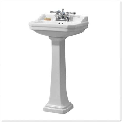 24 Inch White Pedestal Sink Sink And Faucet Home