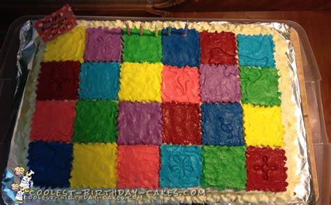 Patchwork Quilt Cake - coolest patchwork quilt cake