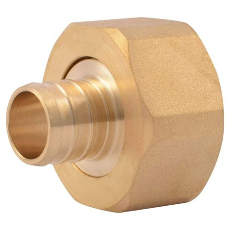 Shark Plumbing Fittings Reviews by Sharkbite 3 4 In Brass Pex Barb X 1 In Swivel