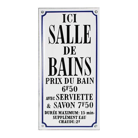 Plaque Salle De Bain by Plaque De Service 233 Maill 233 E Humoristique Ici Salle De Bain