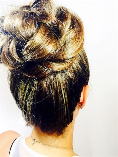 wedding hair high bun braided bun bridal hair bridesmaid brides bun