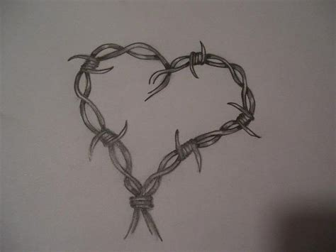 barbed wire heart tattoo designs best 25 barbed wire tattoos ideas on barb