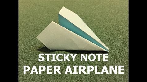 How To Fold A Paper Note - how to fold a sticky note paper airplane my crafts and