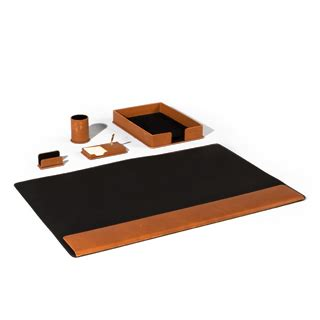 Brown Leather Desk Accessories Brown Leather Desk Accessories Set Arenson Office Furnishings