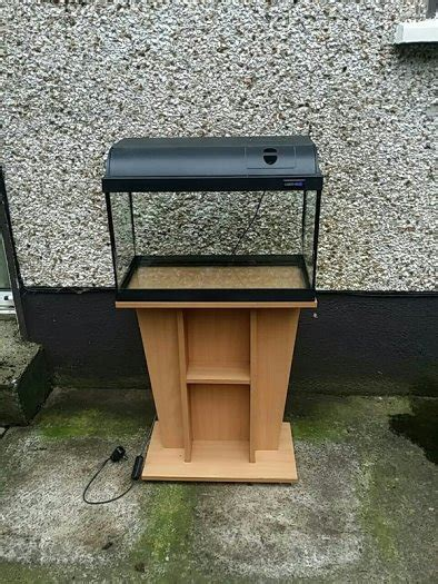 fish tank with filter and light light glow fish tank condition with stand and filter