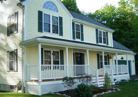colonial house with farmers porch front porch ideas contractor cape cod ma ri