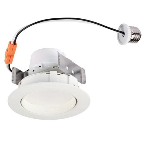 Lu Downlight 10 Watt westinghouse 4 inch sloped recessed led downlight 10 watt 65 watt equivalent medium base warm whit