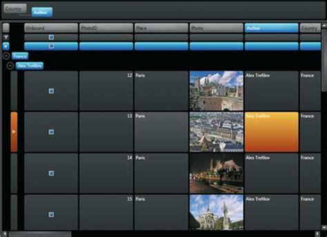 xaml horizontal layout zoschke componentone studio for wpf