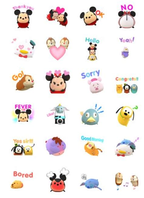 printable cartoon stickers 459 best images about tsum tsums on pinterest disney
