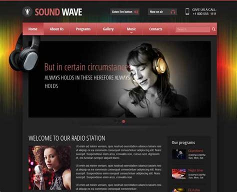 Radio Themes Online Radio Station Templates Gridgum Radio Station Marketing Plan Template