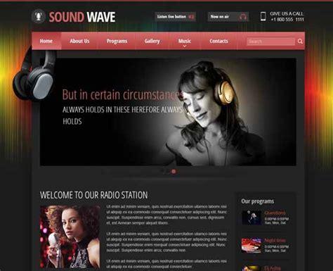 Radio Themes Online Radio Station Templates Gridgum Free Radio Station Website Templates
