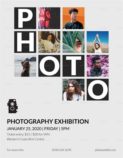 Photography Exhibition Flyer Design Template In Psd Word Publisher Illustrator Indesign Photography Flyer Template Word