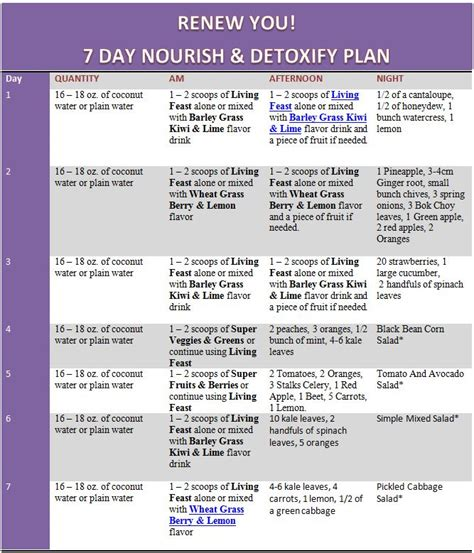 Superfood Detox Diet Plan by A 7 Day Nutrient Rich Nourish And Detox Plan Nutrient