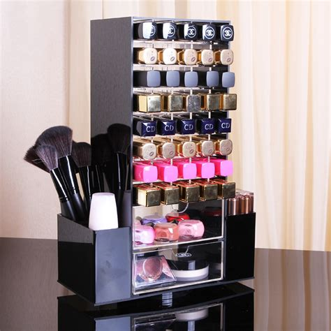 black acrylic makeup drawers spinning black acrylic makeup cosmetic organizer drawers
