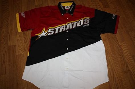 stratos boats clothing l stratos boat pro team fishing tournament shirt new ebay