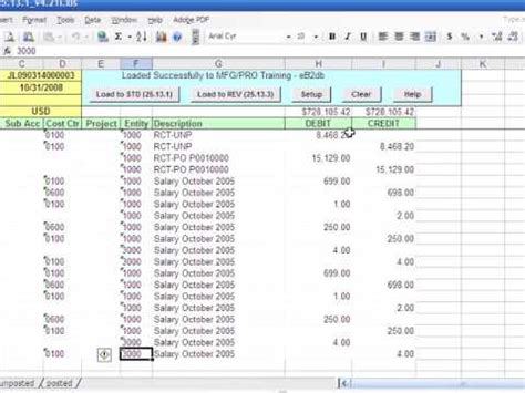format jurnal excel qad journal entries from excel submit large gl