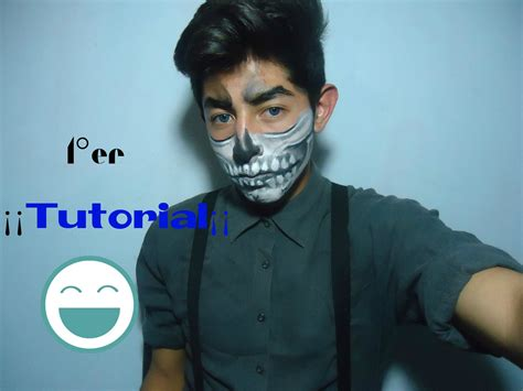 imagenes de maquillaje para halloween hombres maquillaje de calavera para hombres y mujeres isaac youtube