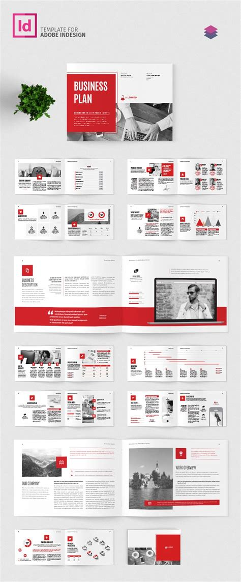 Business Plan Landscape Template Adobe Indesign Template Indesign Landscape Template