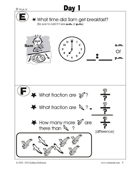 Common Math Worksheets 1st Grade by Grade Daily Math Worksheets Common 1st
