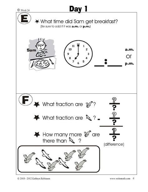 1st Grade Common Math Worksheets
