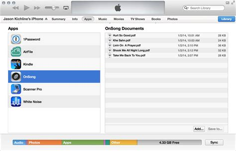 itunes file sharing section onsong manual itunes file sharing