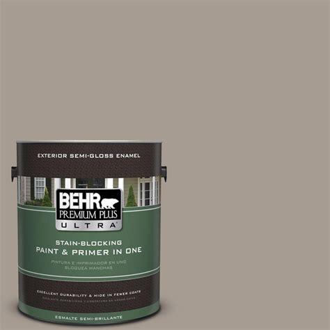 behr premium plus ultra 1 gal n200 4 rustic taupe semi gloss enamel exterior paint 585401