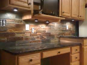 granite hard slate tiles kitchen backsplash tile brown rustic from