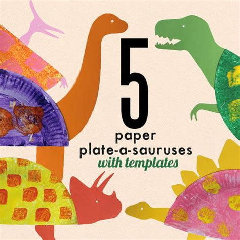 all free paper crafts printable paper plate dinosaur craft allfreekidscrafts