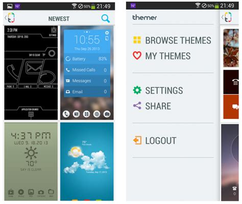 telecharger themes store themer est disponible frandroid