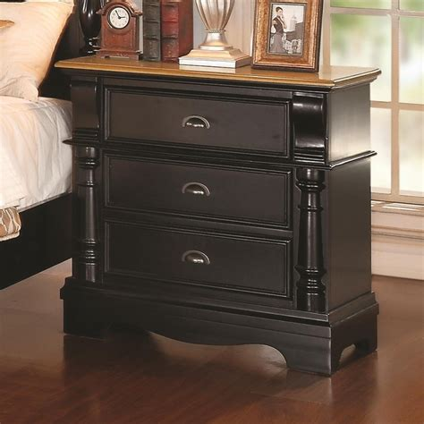 Black Wood Nightstand Coaster 203182 Black Wood Nightstand A Sofa Furniture Outlet Los Angeles Ca